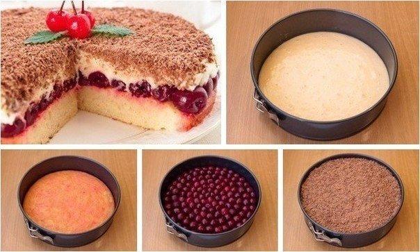 Быстрый вишнёвый пирог рецепт