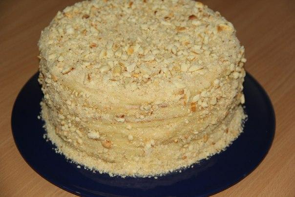 Торт очень вкусный на сгущенке